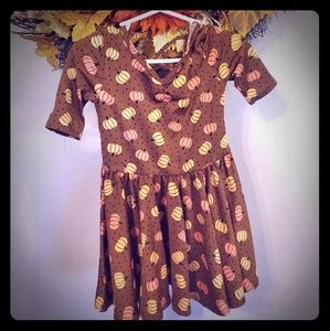 Dot Dot Smile Thanksgiving Ballerina twirly Dress